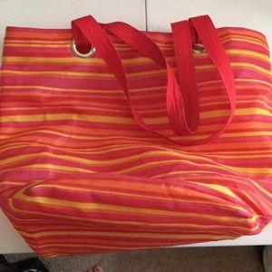 Handbags - Striped beach bag